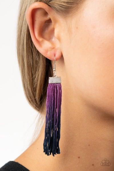 Pre-Sale - Dual Immersion - Purple Ombre Tassel Earrings