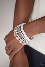 Crystal Collage - White Bracelet
