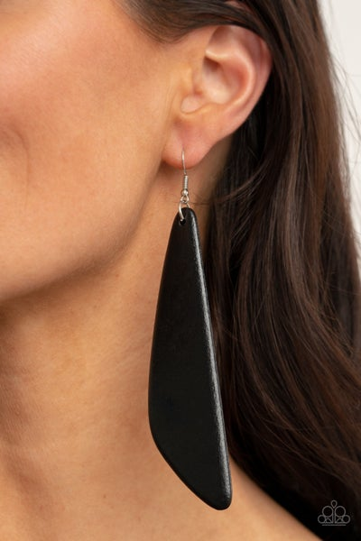 Pre-Sale Scuba Dream - Black Wood Earrings