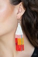 Beaded Boho - White ♥ Earrings