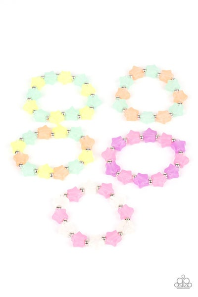 Assorted Colors of star shaped Beaded Bracelets for Kids or the Kid at Heart