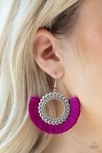 Fringe Fanatic - Purple Earrings
