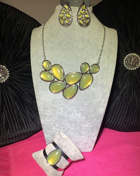 Iridescently Irresistible, Optimal Opalescence & That Thing You DEW - Yellow Moonstone 3pc Set