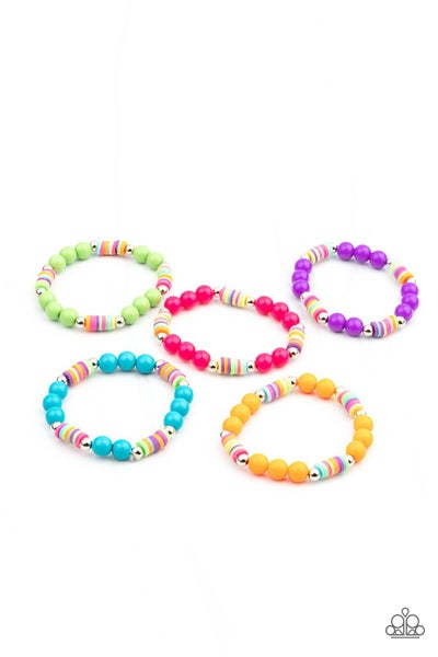 Assorted color of Multi-color Stretch Bracelets for Kids or the Kid at Heart