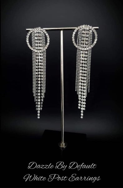 Dazzle by Default - Silver & Rhinestone Earrings - January 2021 Life of the Party Exclusive