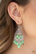 Gorgeously Genie - Green Earrings