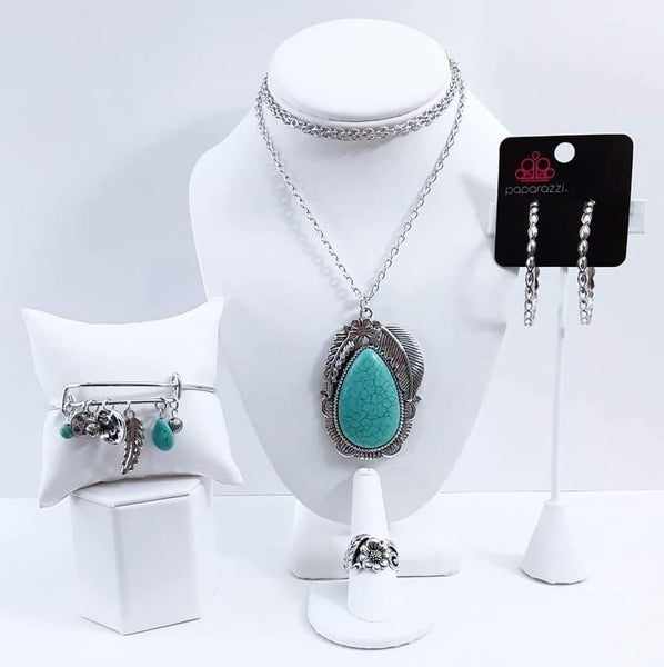 Simply Santa Fe - Silver with Turquoise - May 2021 Fashion Fix Set