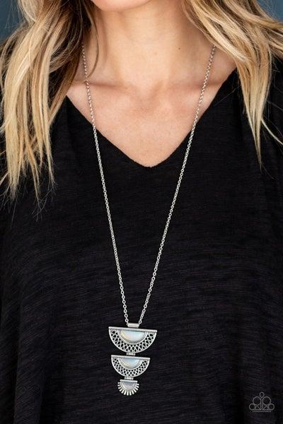 Serene Sheen - Iridescent White Necklace