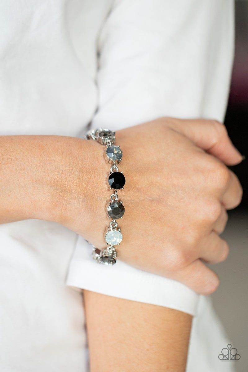 Pre-Order Celestial Couture -  Icy, Black, Smoky, & Hematite Rhinestones Bracelet