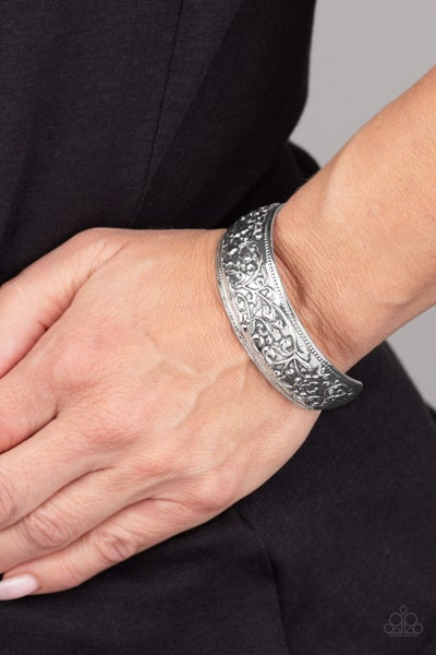 Garden Tropic - Silver Cuff Bracelet