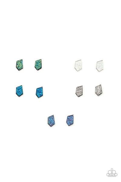 Asymmetrical Druzy Post Earrings