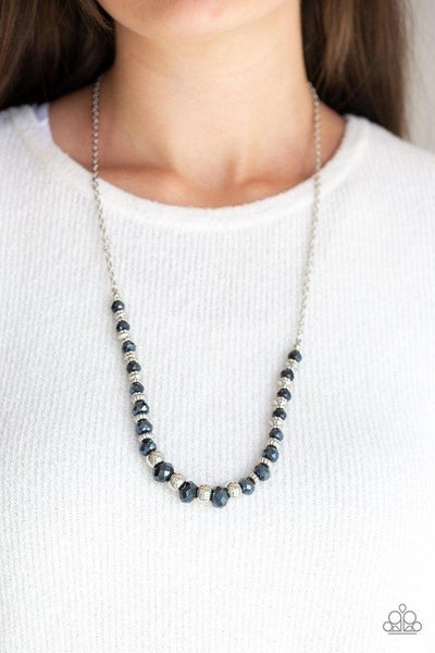 Stratosphere Sparkle - Blue Iridescent Crystals with Silver accents Necklace & Earrings