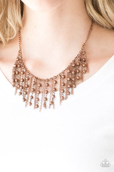 Pre-Order Rebel Remix - Copper strands with faceted Copper Beads Necklace& Earrings