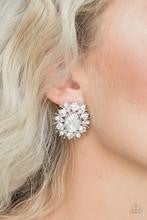Serious Star Power - White ♥ Post Earrings
