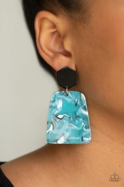 Majestic Mariner - Blue Earrings