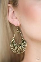 Indigenous Idol - Brass Earrings