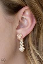 Heartthrob Twinkle - Rose Gold Post Earrings