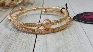 West End Wraparound None - Gold Coil Bracelet