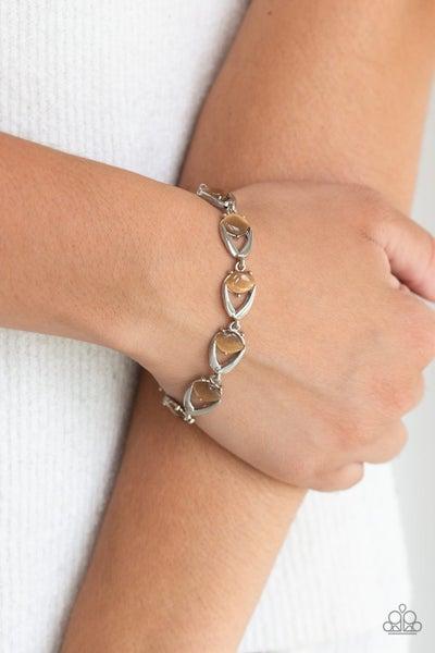Modern Mystic - Silver with Brown Cat's Eye Moonstone Bracelet