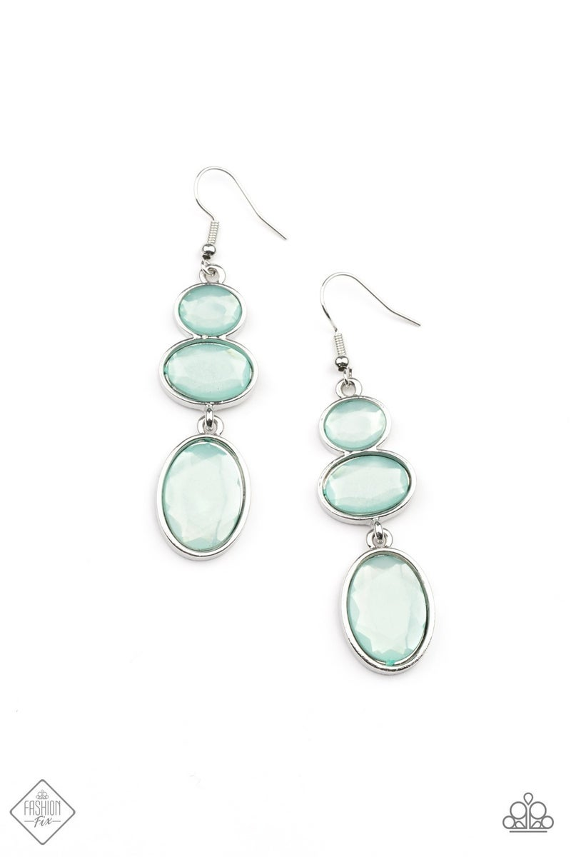 Tiers Of Tranquility - Silver with Blue Moonstone Earrings
