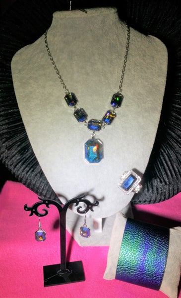 Million Dollar Moment, Cosmic Cruise & Crown Jewel, Silver with Blue 3 Piece Set