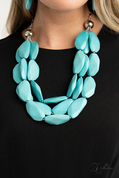Authentic - Turquoise 2020 Zi Collection Necklace & Earrings