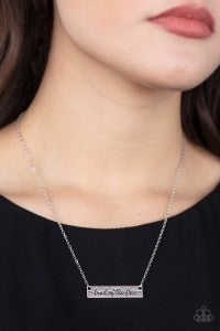 Land Of The Free – Silver Bar Frame Stamped Necklace & Earrings