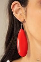Tropical Ferry - Red Earrings