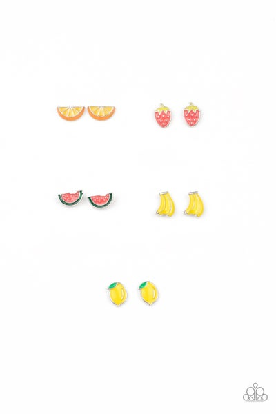 Assorted colors and fruity shapes Earrings for Kids or the Kid at Heart