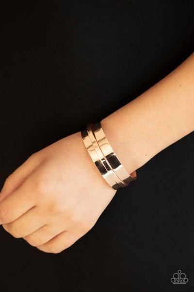 A HAUTE Number - Rose Gold Layered Cuff Bracelet