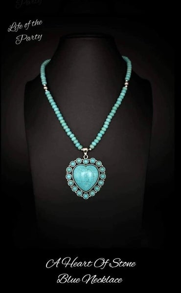 Heart of Stone - Turquoise Necklace & Earrings April 2021 Life of the Party