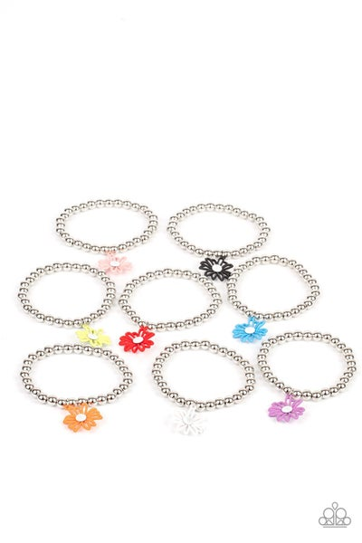 Pre-Sale Assorted Colors & Floral Shapes on Stretch Bracelet for Kids or the Kid at Heart