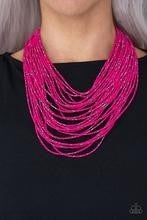 Rio Rainforest - Pink Seed Bead Necklace