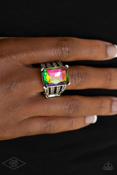 Expect Heavy REIGN - Silver with Multi-Oil Spill Ring