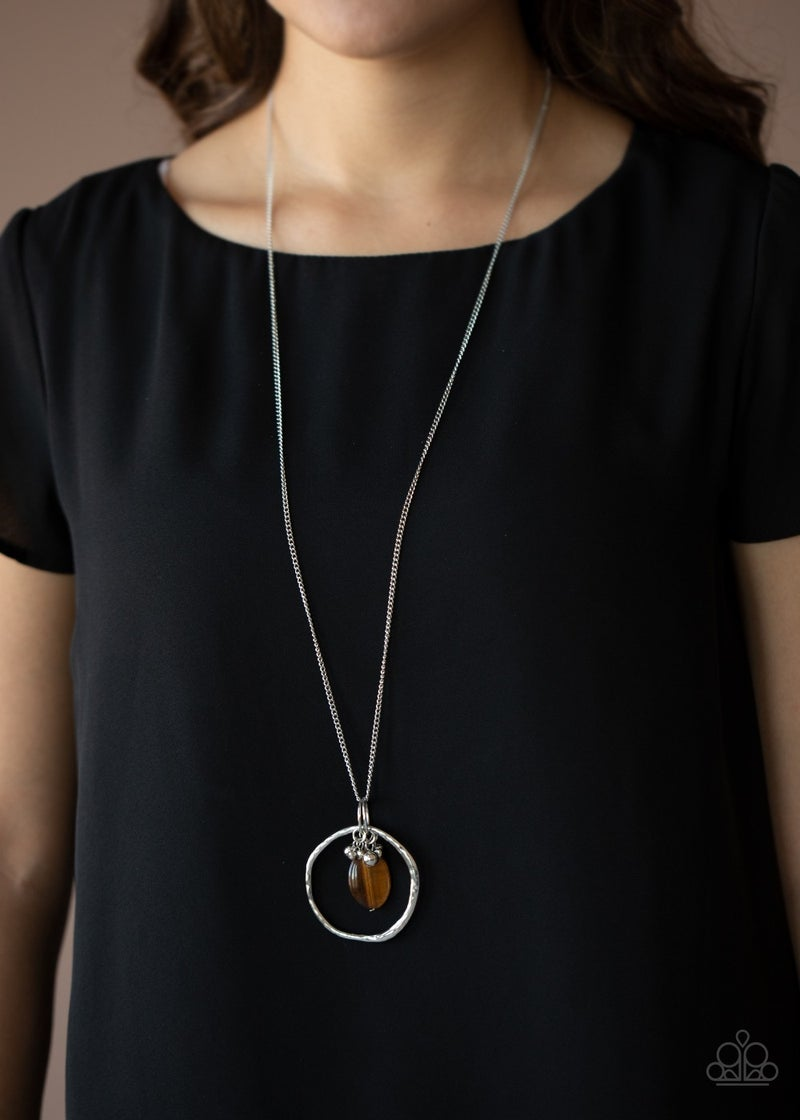 Pre-Sale Zion Zen - Brown Tiger Eye Bead Pendant Necklace