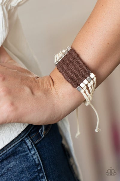Beachology - Light Tan & Brown Cordage Pull-Tight Bracelet