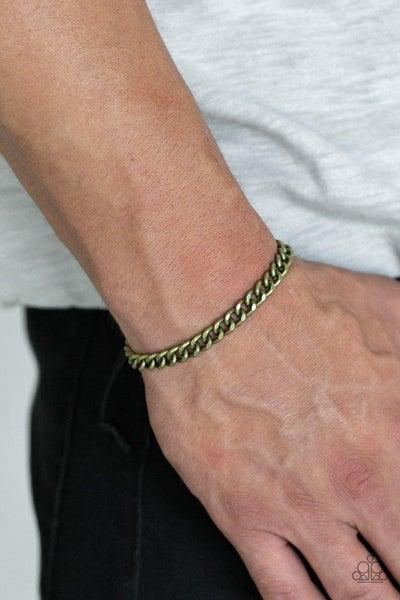 Goal! - Brass Mens Bracelet