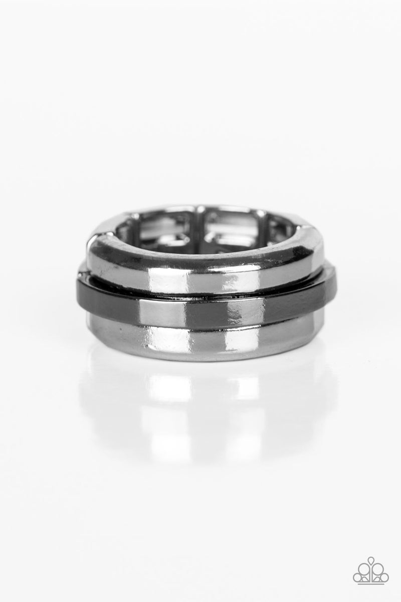 Pre-Sale - Battle Tank - Silver with a Gunmetal Center Ring
