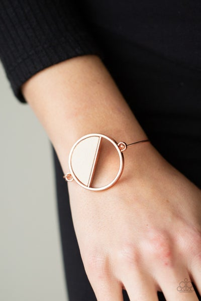 Pre-Sale Timber Trade - Copper with White Wood accent Bracelet
