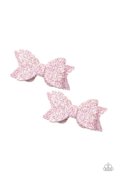 Sprinkle On The Sequins - Pink Sequin Hair Bow