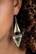 El Paso Edge - Brass Earrings