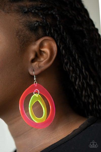 Pre-Sale - Show Your True NEONS - Neon Pink & Yellow Acrylic Hoop Earrings