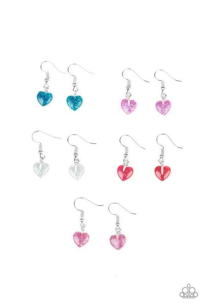 Glittery Heart Shaped Earrings