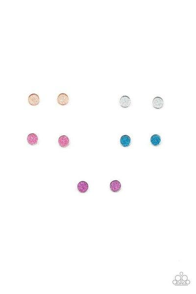 Circles of Glitter Post Earrings
