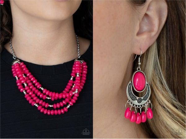 Pre-Order Best POSH-ible Taste & Prairi Flirt Pink Necklace & Earring Upgrade Set