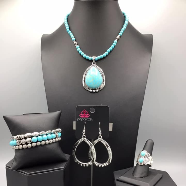 Simply Santa Fe - Turquoise 4 piece Set - February 2021 Fashion Fix Set