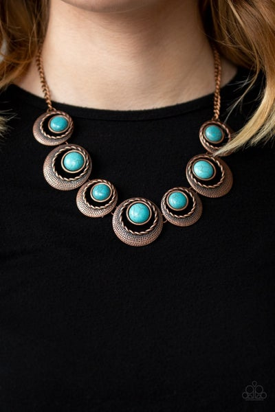 Lions, Tigers, and Bears - Copper & Turquoise Necklace