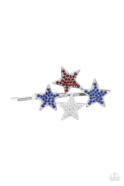 Stellar Celebration - Blue- Red, White & Blue Hair Bobby Pins