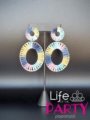 Foxy Flamenco - Tie dyed Wood Earrings - March 2021 Life of the Party