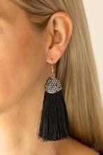 Razzle Riot - Black Fringe Earrings